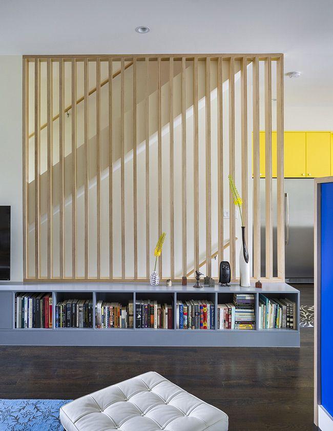 Claustras intérieurs en bois Salons, Mezzanine and Staircases