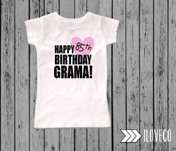 Happy Birthday Grama Grampa Grandma Grandpa Nana Papa Shirt Custom Date NAME