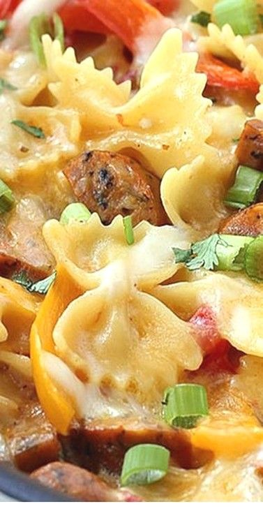 One Pot Cheesy Sausage And Peppers Pasta | Casserole Recipes #easysausagerecipes