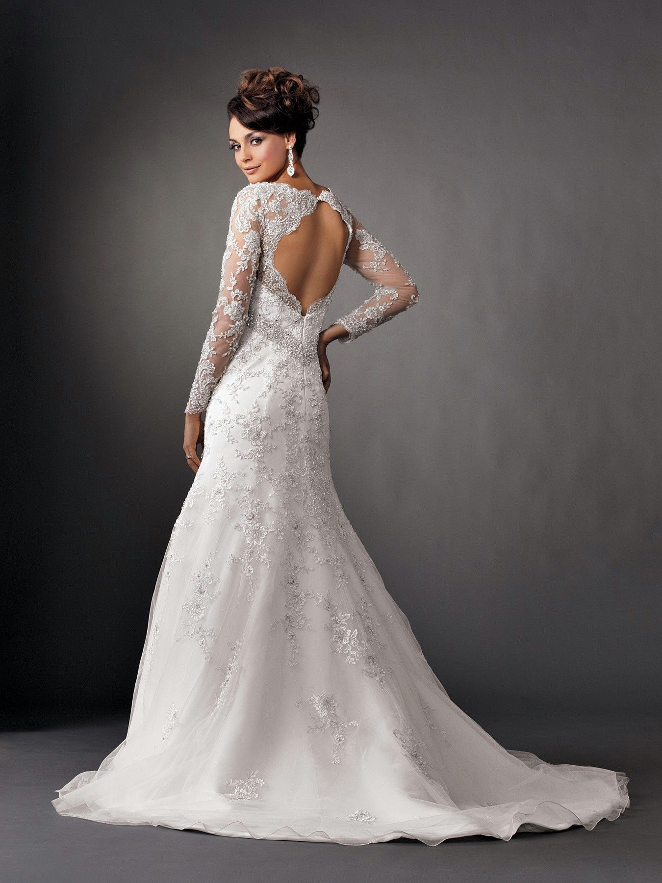 35 Wedding Gowns With Sleeves | Floral lace, Mermaid and Gowns
