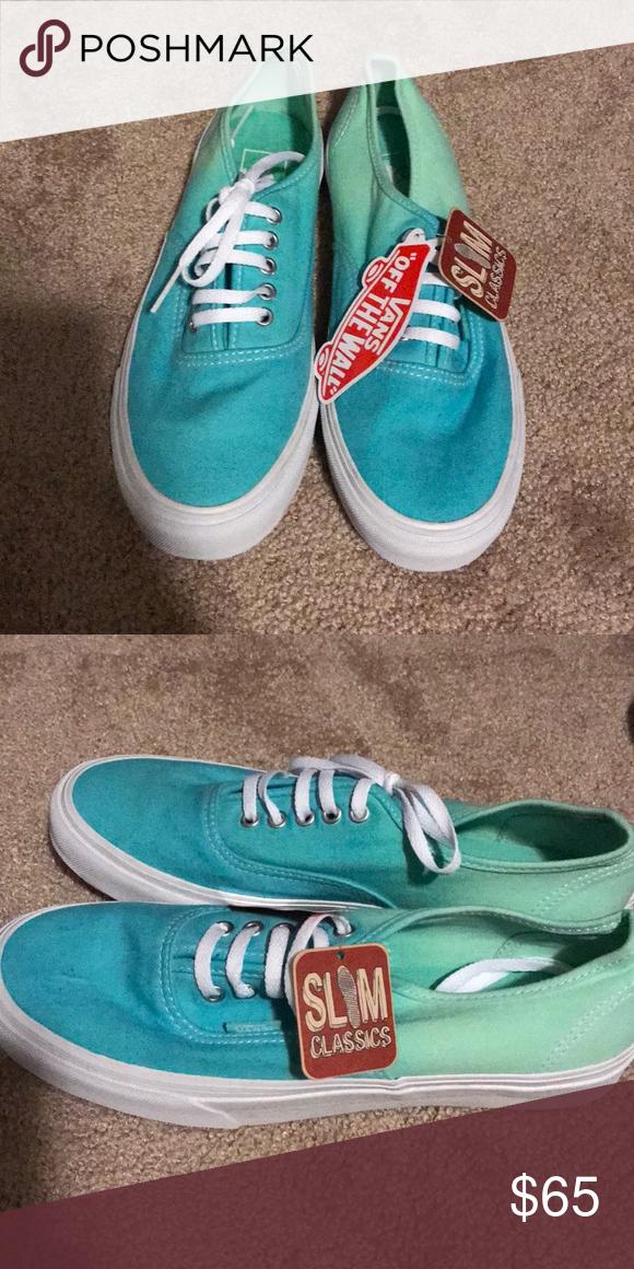 2abfa63492 Brand new blue ombre vans Brand new blue ombre vans. Vans Shoes