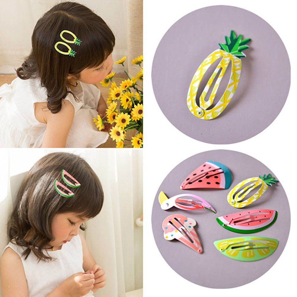 10pcs Cute Princess Fruit Hairpins  Kids Hair Clips Pins Barrette Accessories