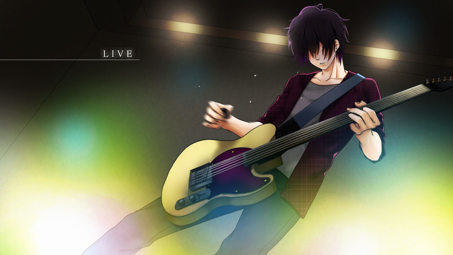 Anime boy with guitar wallpaper