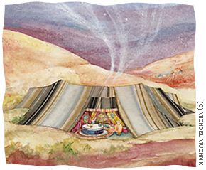 Women of the Bible--Sarah. She fled into the desert with her husband Abraham to live a comparatively monastic existence as a nomadic tent-dweller and ... & She fled into the desert with her husband Abraham to live a ...