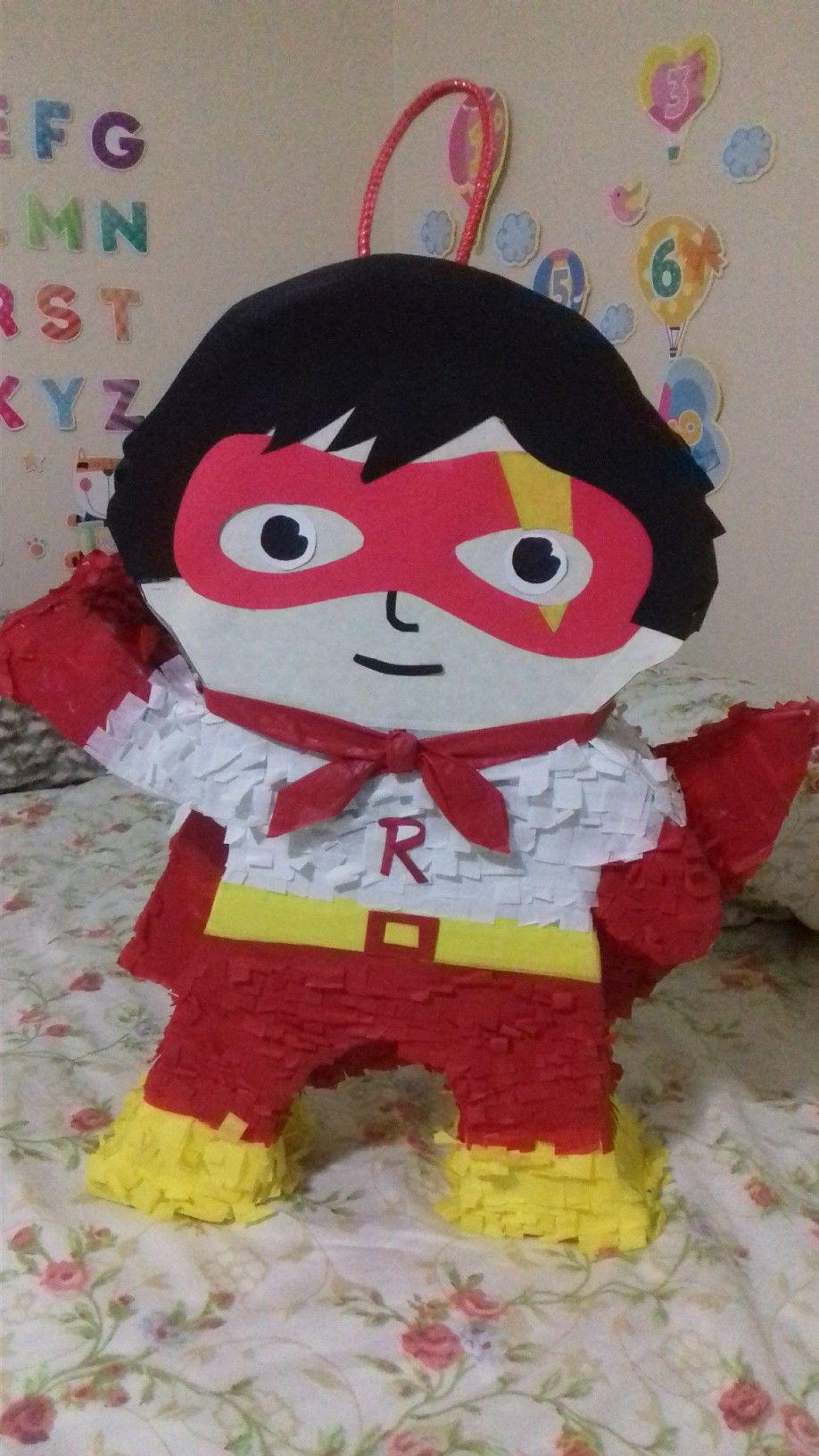 Pin By Desiree On Ryan S World Red Titan Pinata Ryan Toys Kids Birthday Boy Birthday
