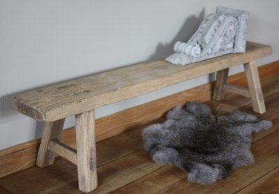 Houten Bankje Slaapkamer : Stoer landelijk sober oud houten bankje no bfh