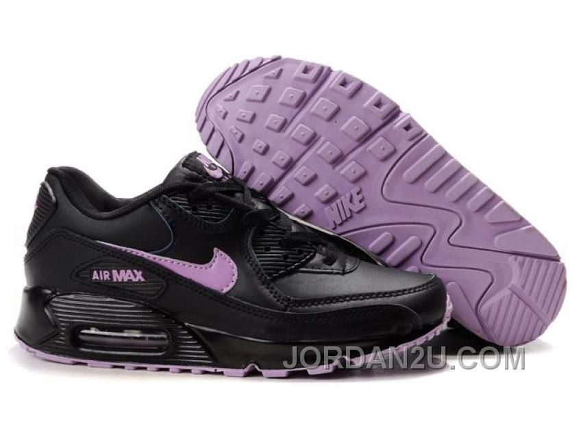 quality design 8780d 6527d NIKE AIR MAX 90 WOMENS BLACK PURPLE DISCOUNT RR632 Only 68.46€ , Free  Shipping!
