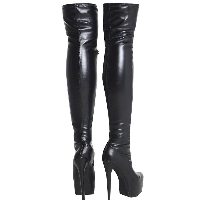 Fashion Thirsty Womens Mens Unisex Over Knee Thigh High Heel ...