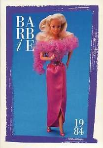 """Barbie Collectible Fashion Trading Card  /"""" Dream Glow Fashions /""""  Nightgown 1986"""