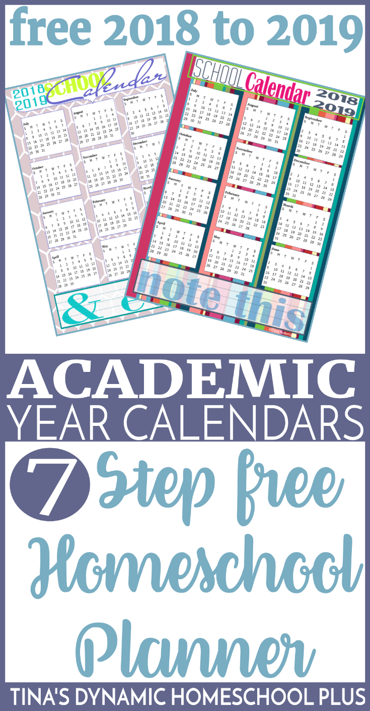 free 2018 2019 academic year calendars planner pages free