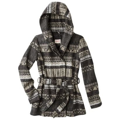 Mossimo Supply Co. Junior's Printed Faux Wool Wrap Jacket -Grey ...