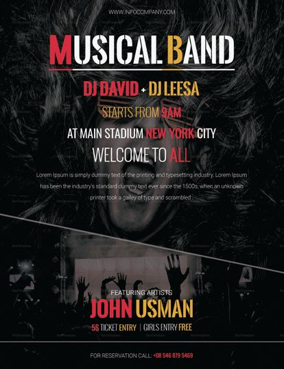 Music Band Flyer Template  Design Flyer Templates
