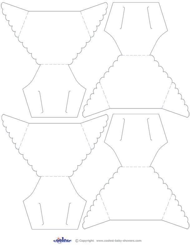 diaper cut out template