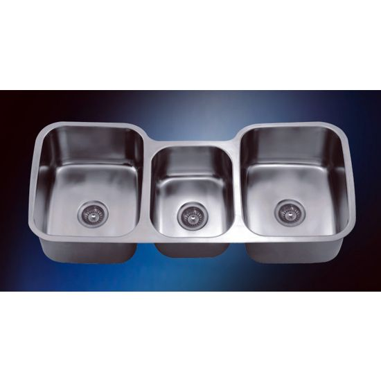 This Stainless Steel Undermount Triple Bowl Sink By Dawn Sinks