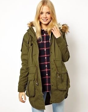 Fur Hooded Detachable Lined Parka | wares to wear | Pinterest ...