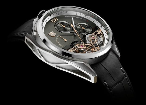 Tag Heuer MikroPendulumS Concept Chronograph: Twin magnets regulate a breakthrough tourbillon movement #men #watch