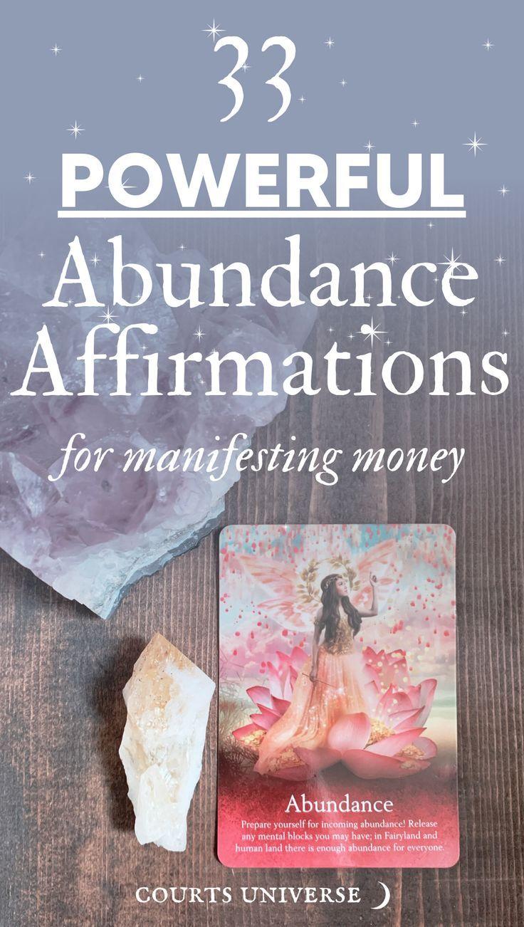 33 Powerful Abundance Affirmations for Manifesting Money
