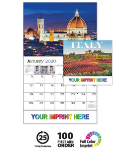 Basic Custom Imprint Setup Pdf Proof Included Travel To Beautiful And Captivating Italy 13 Month Wall Calendar I Business Calendar Wall Calendar Imprinting