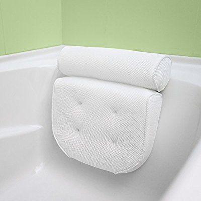 Luxurious Bath Pillow Plus Konjac Sponge, Extra Large Suction Cups