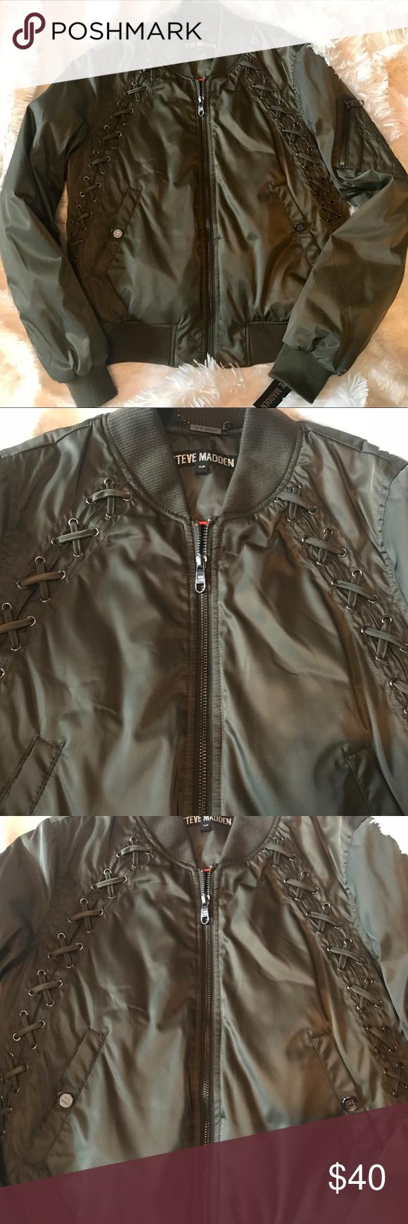 online store 60776 96f89 Steve Madden jacket olive green NWT Steve Madden olive green ...
