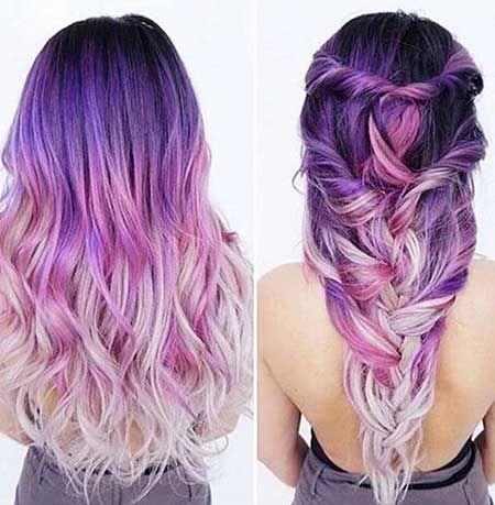 11 Lila Meerjungfrau Haare Farben Die Sie Lieben Werden Haarfarben Haarfarbe Ideen Haare Lila Farben