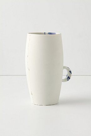 """Recollection Ring Cup  Rough-hewn edges and surprising glaze placement evoke memories of tender tea-times from yesteryear.   #Porcelain   Dishwasher and microwave safe.   14 oz.   5.5""""H, 4"""" diameter   #Germany    #073507     $49.95...was $98.00   color:IVORY  http://re.pn/b/bneK"""