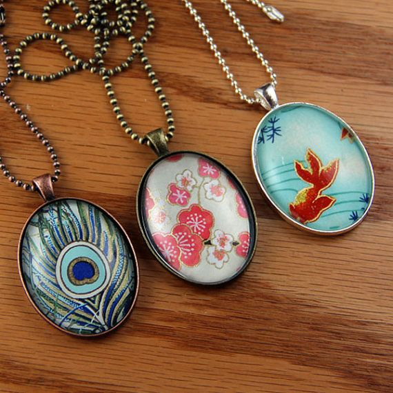 Oval Glass Cabochon Pendant For Necklace Dried Flower Charms DIY Jewelry