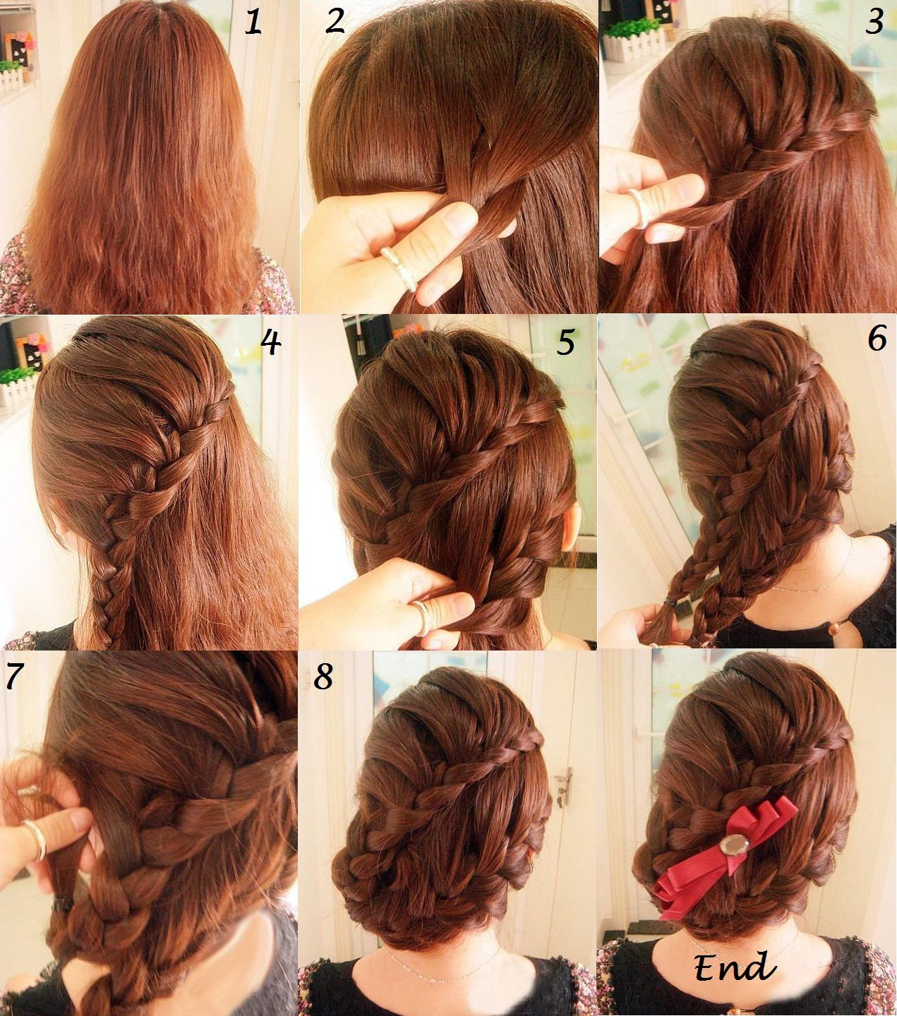 Wedding Hairstyle Step By Step: 9 Easy Steps To Get Super Cute Braided Hair Style (With