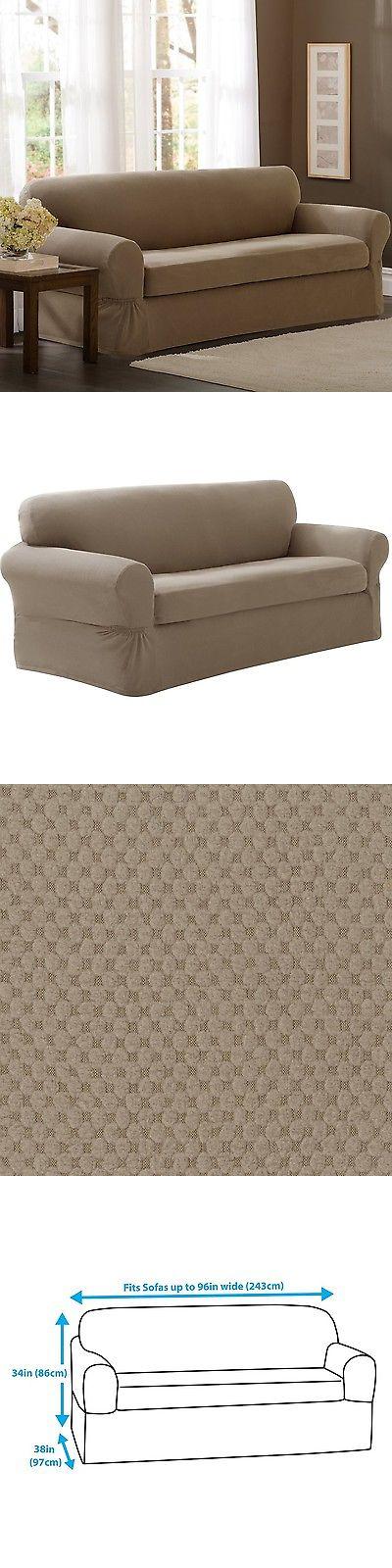 Slipcovers 175754 Maytex Pixel Stretch 2 Piece Sofa Slipcover