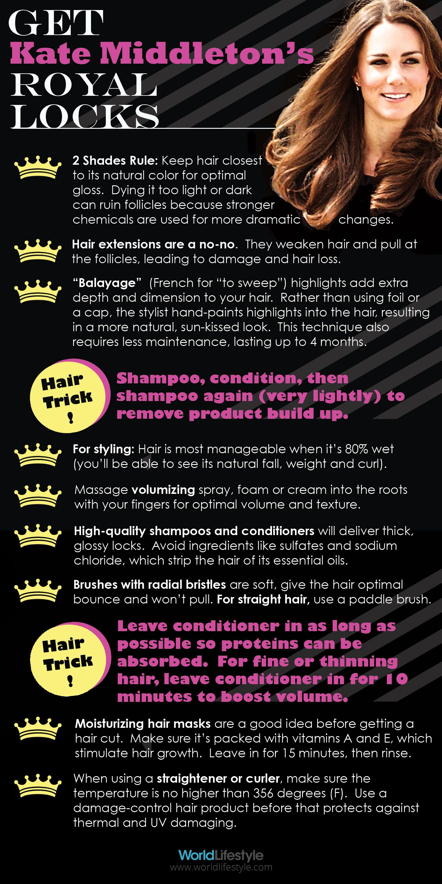 Want Hair Like Kate Middleton Heres How Infographics Kate