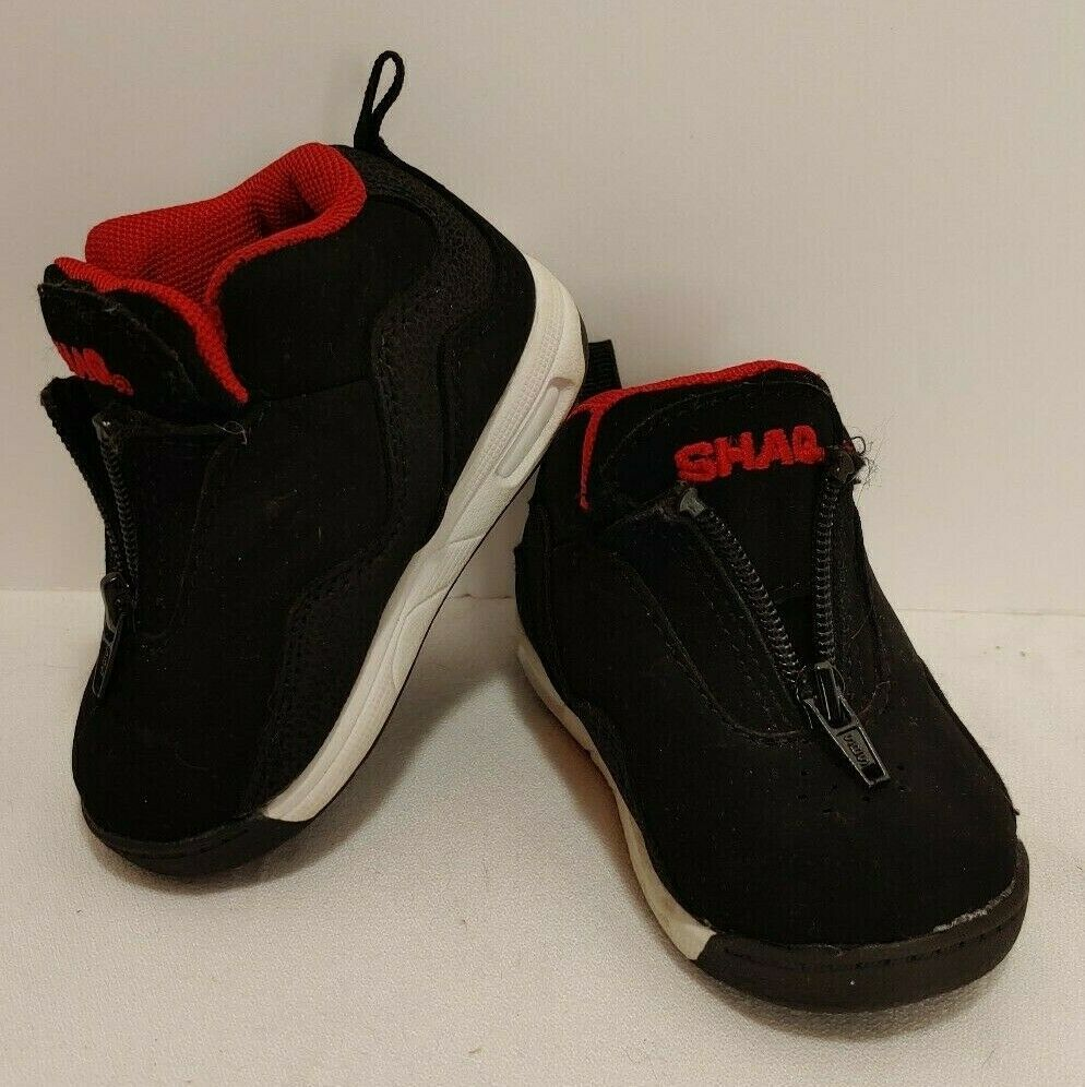 SHAQ SIZE 4 BABY BLACK with RED ZIP UP