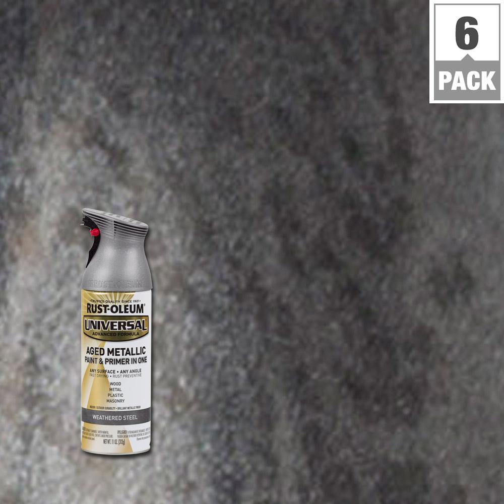 Rust-Oleum Universal 11 oz  All Surface Aged Metallic
