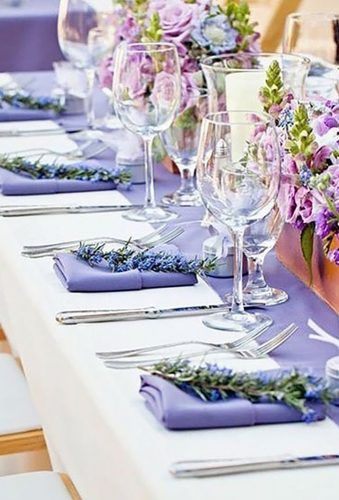 30 lavender wedding decor ideas youll totally love pinterest lavender wedding decor ideas lavender napkins missionmaidofhonor junglespirit Gallery
