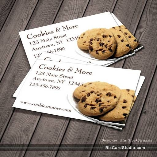 Cookies business card bakery business cards pinterest business cookies business card colourmoves