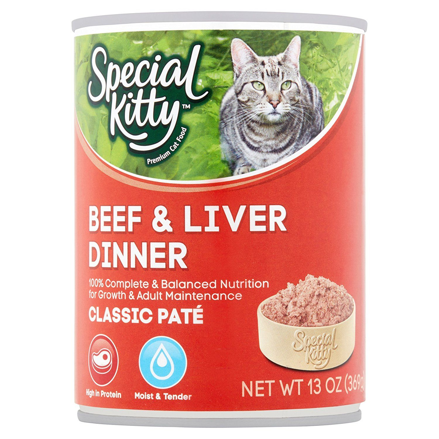 (13oz, Pack of 24), Special Kitty Classic Pate Beef and ...