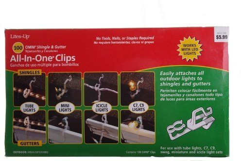 All in One Omni Shingle  Gutter Outdoor Christmas Light Clips Hooks
