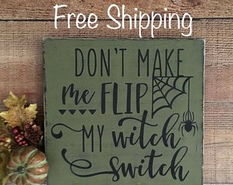 Halloween Decorations Signs Witch Decor Witch Halloween Decorhalloween Witch Sign Witch