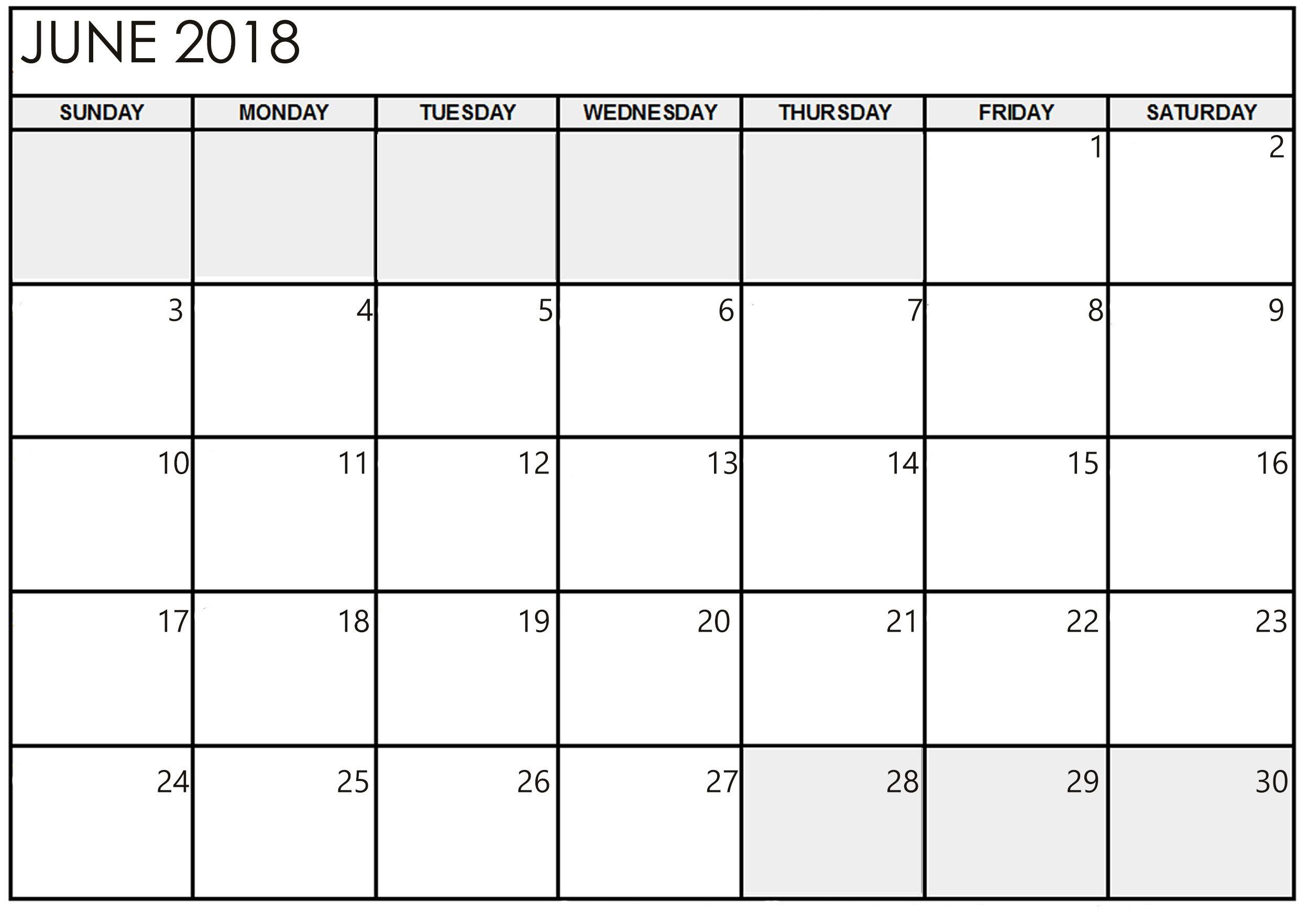 June Calendar 2018 Printable Pdf Free Template Httpaibgpjune