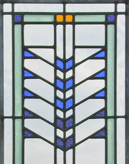 Transom Windows A Useful Design Element: Stained Glass Window Inspired By Frank Lloyd Wright's