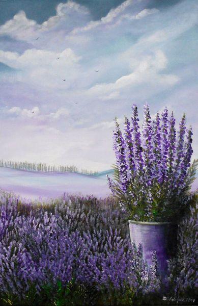 Lavendelduft Wie Man Blumen Malt Lavendel Farbe Und