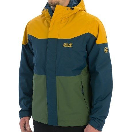 Jack Wolfskin Glow Zone Texapore Jacket Waterproof Insulated For Men Jack Wolfskin Jackets Mens Jackets