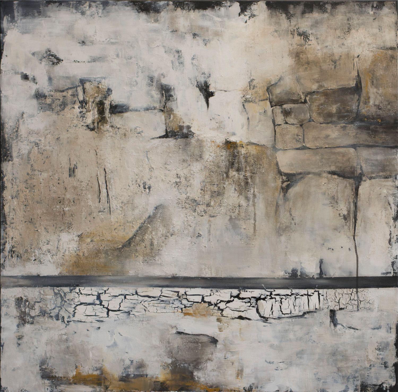 original acrylbild auf leinwand abstrakte moderne zeitgen ssische kunst weiss schwarz grau. Black Bedroom Furniture Sets. Home Design Ideas