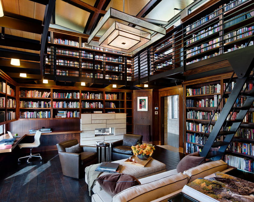 2 Story Library 2 Story Library Elegant homes