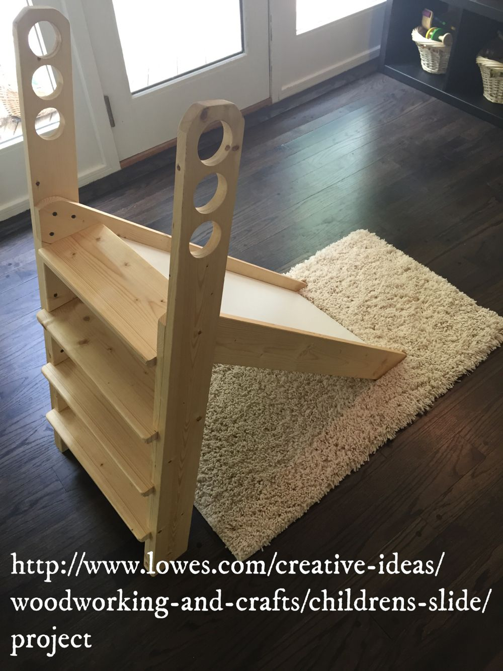 RIE or Montessori toys, toddler DIY Slide, natural toys, wooden ...