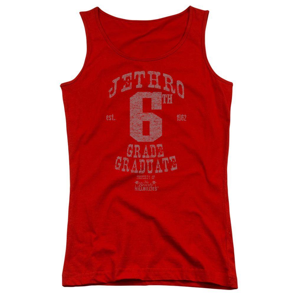 The Beverly Hillbillies Mr. 6th Grade Grad Red Womens Tank-Top T-Shirt