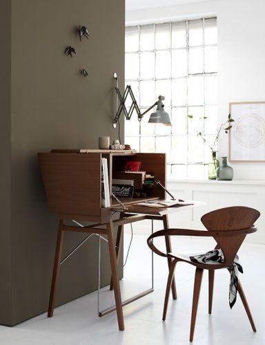 Schöne Wandideen für Räume Schöner Arbeitsplatz im Wohnzimmer