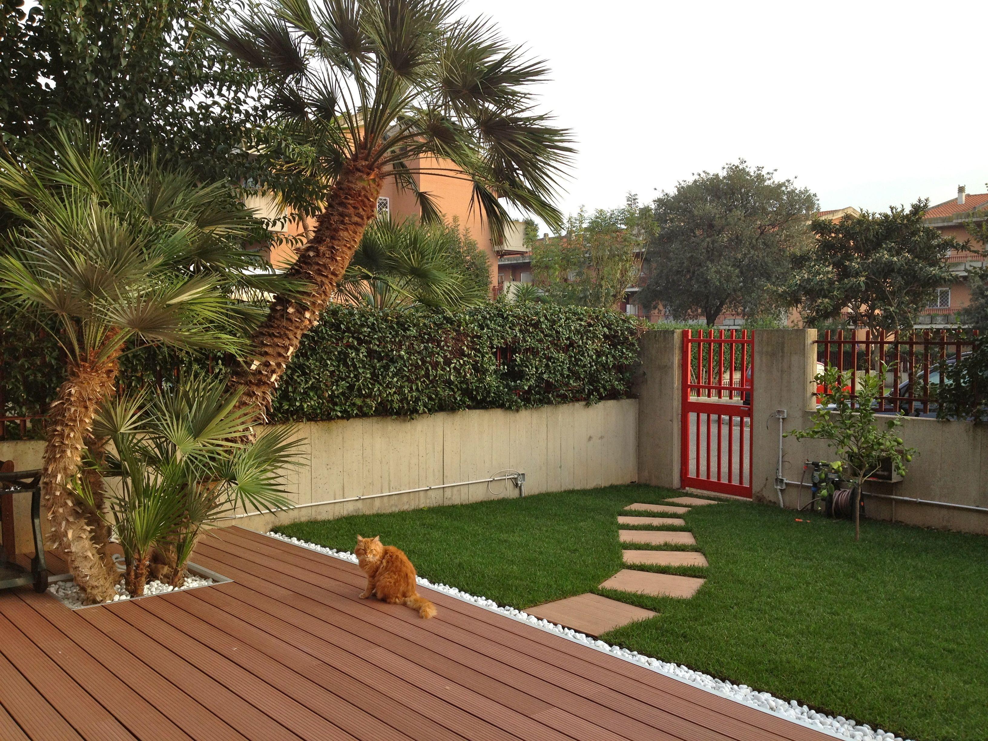 Un piccolo giardino privato ecco il nostro primo progetto realizzato progetti pinterest - Progetto giardino privato ...