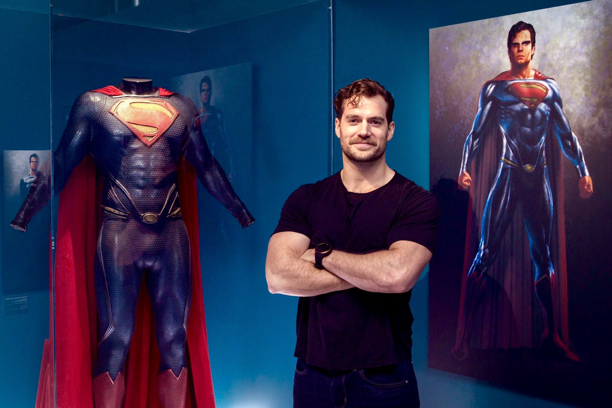 "As the song says ""And these are some of my favorite things tight black form fitting T-shirt, body hugging form fitting super hero costume and you without anything on Cavill""...my version of the song... Billboard 100 here I come...lol!!! ;)"