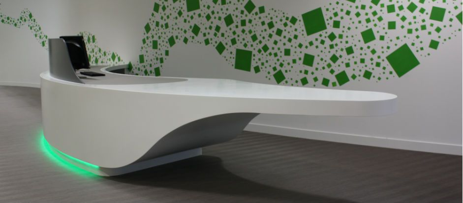 Solid Surface Reception Desk - We Are Limitless Limited ...