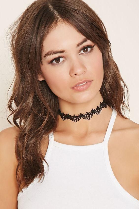 Forever 21 Scalloped Crochet Choker as seen on Ariana Grande